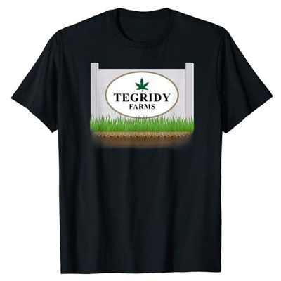 tegridy farms shirt with logo